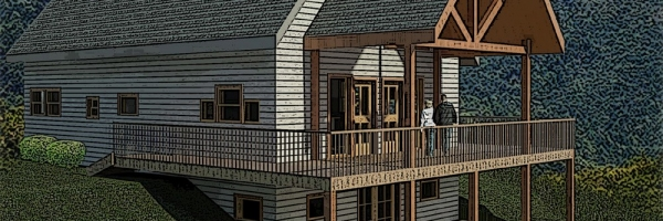 hickory log home plans,