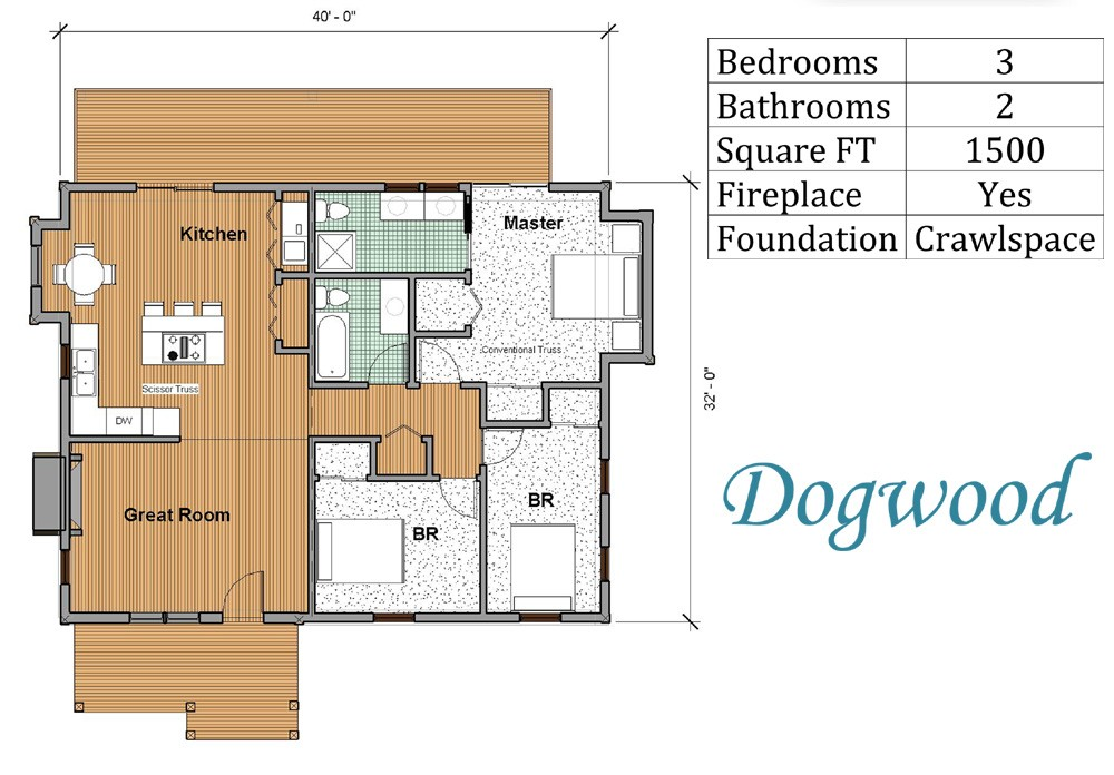 vacation home floor plan