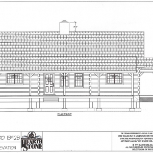 Eastwood 1392B Front Elevation by Hearthstone homes and Mountain Construction.