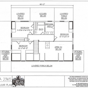 hickory log home plans