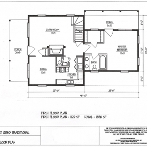 traditional small home plan