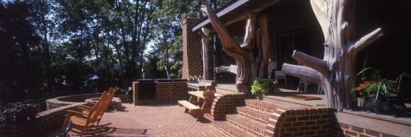 Brick Patio with custom stairs