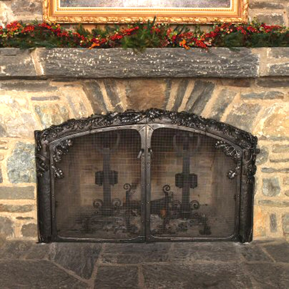 stone fireplace near Blowing Rock NC