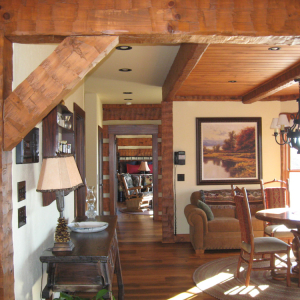 Timber Frame Log Hybrid Lodge Estate Home
