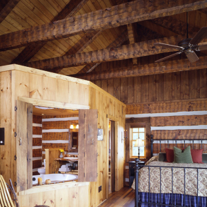 Bedroom Timber Frame Log Hybrid Estate Lodge Home