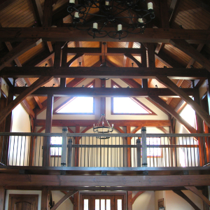 Timber Frame Home with Catwalk Connector